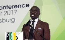 Finance Minister Malusi Gigaba during the PGF Breakfast at Nasrec on 16 December 2017. Picture: @MYANC/Twitter