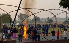 Itireleng community protests against the lack of housing. Picture: Supplied.