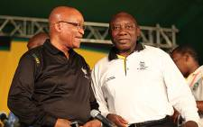 ANC president Jacob Zuma and his deputy Cyril Ramaphosa on the last day of the ANC's Mangaung conference on 20 December, 2012. Picture: Taurai Maduna/EWN