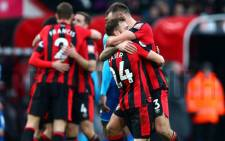 Bournemouth players celebrate after a victory over Arsenal. on Sunday 14 January 2017. Picture: Twitter/@afcbournemouth