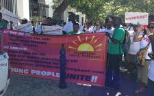 Non-governmental organisations reveal People's budget outside Parliament on 25 February 2014. Picture: Rahima Essop/EWN