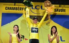 Chris Froome escaped unscathed after an action-packed ninth stage of the Tour de France. Picture: Twitter/@LeTour.