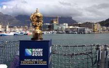 2015 Rugby World Cup trophy on board the HMS Iron Duke. Picture: Aletta Gardner/EWN