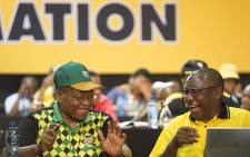 FILE: Jacob Zuma and Cyril Ramaphosa during the nominations process at the ANC's national conference on 17 December 2017. Picture: Sethembiso Zulu/EWN
