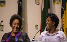 Sisi Ntombela, premier-elect of the Free State and Refilwe Mtshweni, premier-elect of Mpumalanga. Photo: Kayleen Morgan /EWN