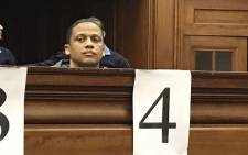 Mortimer Saunders in the dock at the Western Cape High Court on Monday morning 28 May 2018. Picture: Lauren Isaacs/EWN