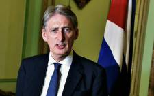 FILE: British Chancellor Philip Hammond. Picture: AFP