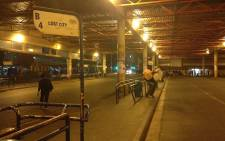 An empty bus terminus is pictured in the Cape Town CBD amid a bus driver strike. Picture: Lauren Isaacs/EWN.