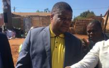 Energy Minister David Mahlobo visits Soshanguve where five children died after an overhead light cluster fell on them. Picture: Mia Lindeque/EWN