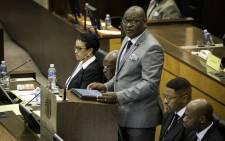 Gauteng Premier David Makhura speaking at the Gauteng Legislature 26 February 2018. Picture: Sethembiso Zulu/EWN.