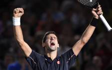 FILE: World no.1 Novak Djokovic celebrates his victory. Picture: AFP