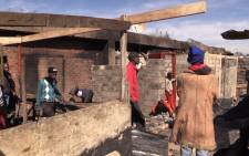 Alexandra residents are trying to rebuild their homes after 120 shacks burnt. Picture: Kgothatso Mogale/EWN