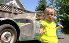 A toddler accidentally bought a 1962 Austin Healey car on eBay.  Picture: CNN.