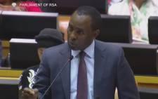 FILE: Minister Mosebenzi Zwane. Picture: YouTube screengrab.