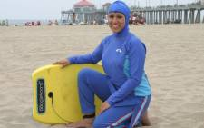 FILE: Body-covering burkini swimsuit worn by some Muslim women. Picture: Facebook.