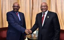 President Jacob Zuma has today, 3 September 2015, met with President Omer al-Bashir of the Republic of the Sudan to discuss strengthening relations between South Africa and Sudan. Picture: GCIS.""