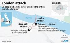 London terror attack.  Picture: AFP