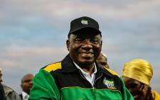 President Cyril Ramaphosa delivers the keynote address at the launch of the #ThumaMina campaign in Tembisa. Picture: Kayleen Morgan/EWN