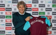 West Ham manager Manuel Pellegrini. Picture: @WestHamUtd/Twitter