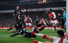Manchester United held on with 10 men after Paul Pogba's late dismissal to beat Arsenal in a pulsating game at the Emirates Stadium. Picture: @premierleague/Twitter.