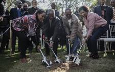 Mbeki attended the soil turning ceremony at Nelson Mandela's former home in Houghton, which will be turned into a boutique hotel. Picture Sethembiso Zulu/ EWN