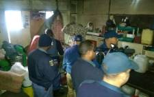 FILE: More than 300 members from the South African Police Service (Saps), Metropolitan Police and the South African National Defence Force (SANDF) are conducting raids in Manenberg on Thursday morning. Picture: Supplied