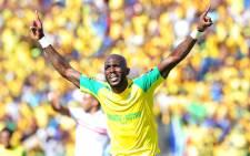 FILE: A Mamelodi Sundowns player celebrates a goal. Picture: @ Masandawana via Twitter.