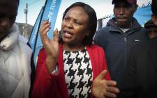 Public Protector, Busisiwe Mkhwebane visited Masiphumelele to inspect the work done by the City of Cape Town after a complaint was laid with her office.