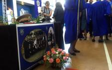 Police held a memorial service for slain Metro Police constable Ben Koopman on 24 February 2016. Picture: Xolani Koyana/EWN.
