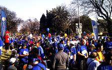Johannesburg residents get ready to participate in the Walk the Talk eight kilometre event on Sunday 24 July 2011. Picture: Sheldon Morais/EWN