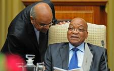 FILE: Former finance minister Pravin Gordhan and President Jacob Zuma. Picture: EWN.