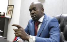 Zimbabwe opposition leader and president of the Movement for Democratic Change (MDC) Nelson Chamisa in Harare on 3 July 2018. Picture: AFP.