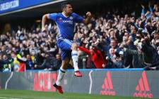 Chelsea's Diego Costa celebrate after scoring in a match against West Bromwich Albion. Picture:  @ChelseaFC.