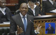 A screen grab of DA leader Mmusi Maimane addressing Parliament. Picture: YouTube