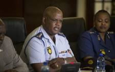 FILE: Acting National Police Commissioner Lieutenant-General Johannes Khomotso Phahlane addresses the media. Picture: Reinart Toerien/EWN.