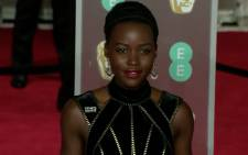 A screengrab of Lupita Nyong'o at the 2018 Baftas.