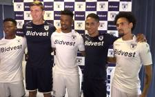 Bidvest Wits unveiled their new signings and new kits for home and away matches. Picture: Kgothatso Mogale/EWN.