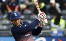 FILE: England's Alex Hales plays a shot during the third one day international cricket match played between England and the West Indies at the Brightside Ground in Bristol on September 24, 2017. Picture: AFP.