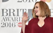 British singer Adele. Picture: AFP.