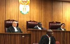 Judge President Dustan Mlambo delivering judgment in the Pretoria High Court on President Jacob Zuma's application to set aside the Public Protector's remedial action that the chief justice appoints a judge to preside over a state capture commission of inquiry. Picture: Barry Bateman/EWN.