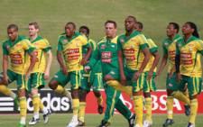 Bafana Bafana players at a training session at Pilditch Stadium in Tshwane. Picture: Taurai Maduna/Eyewitness News