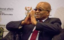 FILE: President Jacob Zuma thanks the crowd upon his arrival at the Indigenous and Traditional Leaders' Indaba in Boksburg on 29 May 2017. Picture: EWN.