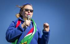 Western Cape Premier Helen Zille addresses residents in the Port Elizabeth suburb of Bethelsdorp on 23 June 2016 as part of the DA's local government elections campaigning. Picture: Aletta Harrison/EWN.