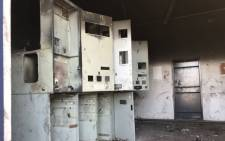 The Bonteheuwel substation after being gutted by a fire. Picture: Lauren Isaacs/EWN