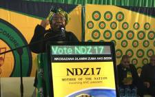 FILE: Nkosazana Dlamini-Zuma addressing the crowd in Kwaximba in KwaZulu Natal on 18 August 2017. Picture: Ziyanda Ngcobo/EWN