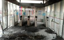 Investigations are underway after Two MyCiTi bus station were vandalised. Picture: Supplied.