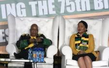 FILE: President Jacob Zuma and his wife Thobeka Madiba-Zuma in Soweto for his 75th birthday celebration. Picture: Clement Manyathela/EWN.