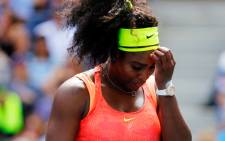 Serena Williams of the United States reacts against Roberta Vinci of Italy during their Womens Singles Semifinals match on Day Twelve of the 2015 US Open at the USTA Billie Jean King National Tennis Center on 11 September, 2015 in the Flushing neighborhood of the Queens borough of New York City. Picture: AFP.