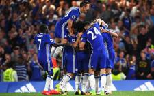 Chelsea players celebrate their win against West Ham United on 15 August 2016. Picture: Facebook