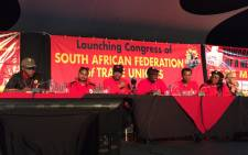 FILE: The South African Federation of Trade Unions held its launch event on 23 April 2017. Picture:  Picture: Twitter/@SAFTU_media.
